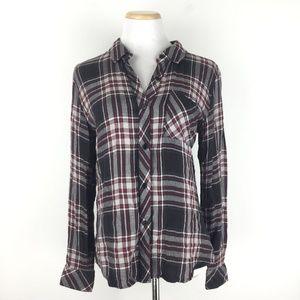 Rails Size S Hunter Plaid Rayon Shirt